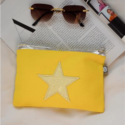 תיק איפור כוכב - צהוב