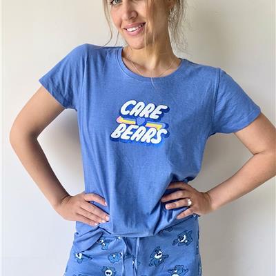 סט פיג'מה קצרה Care Bears - כחול