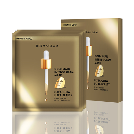 Premium Gold Snail Intense Glam Mask