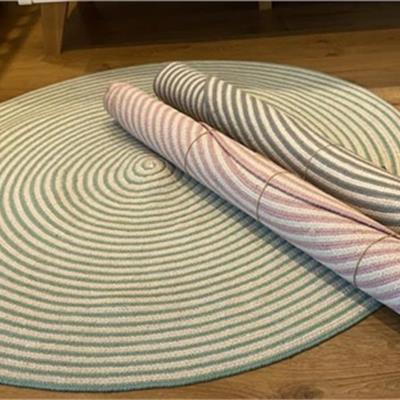 שטיח כותנה ריב עגול